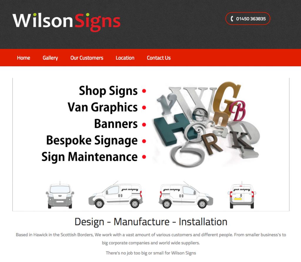 Wilson Sign - Hawick